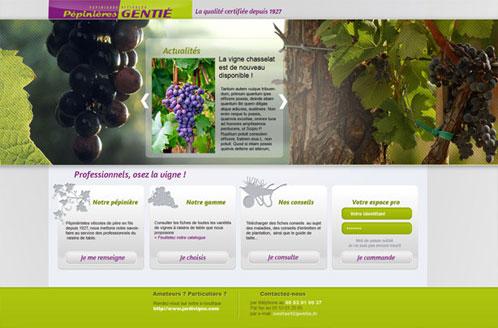 Accueil du site Internet www.gentie.fr